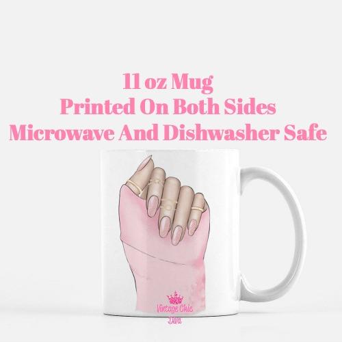 Pink Nails1 Coffee Mug-