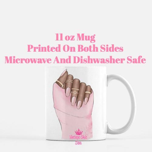 Pink Nails2 Coffee Mug-