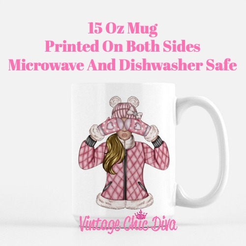 Pink Snow Girl10 Coffee Mug-