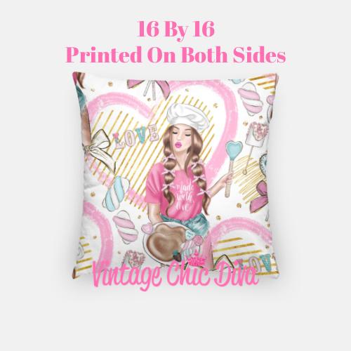 Pink Sweet Fashion17 Pillow Case-