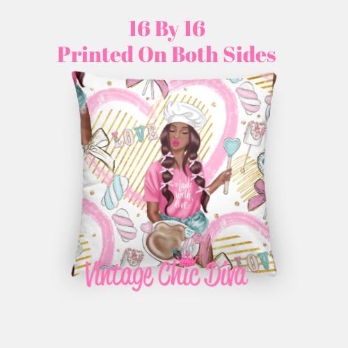 Pink Sweet Fashion18 Pillow Case-