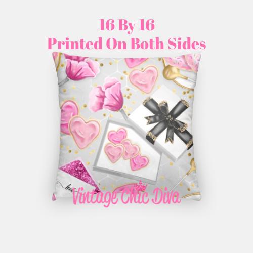 Pink Sweet Fashion2 Pillow Case-