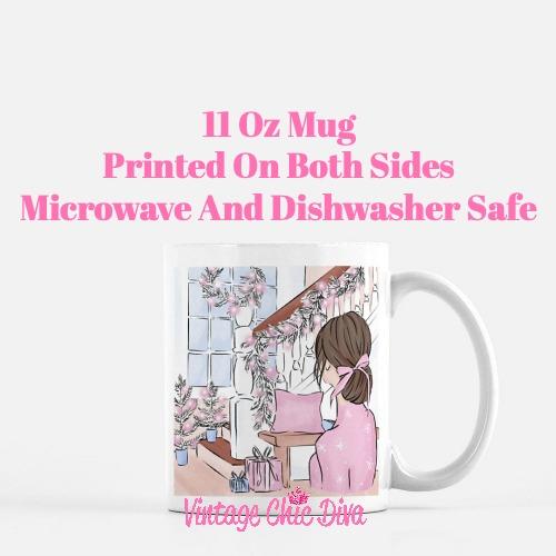 Pink Winter Girl11 Coffee Mug-