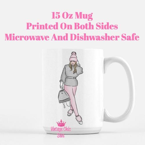 Pink Winter Girl1 Coffee Mug-