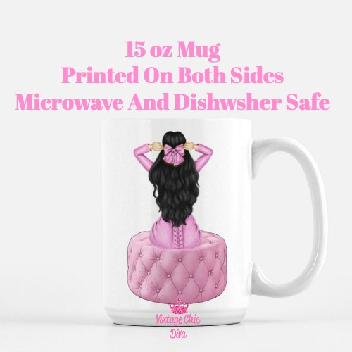 Pretty In Pink Girl2 Coffee Mug-