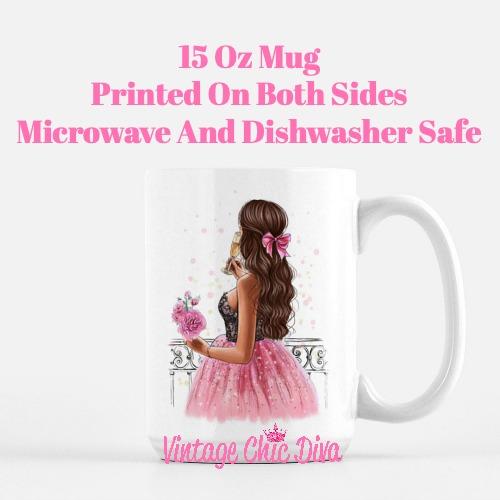 Pretty Pink Champagne Girl2 Coffee Mug-