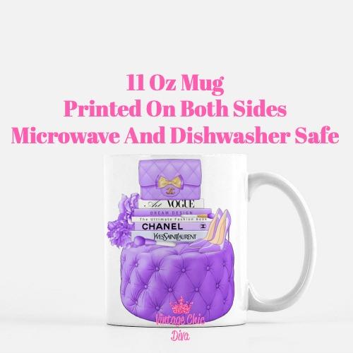 Purple Chanel Handbag Stool Set5 Coffee Mug-