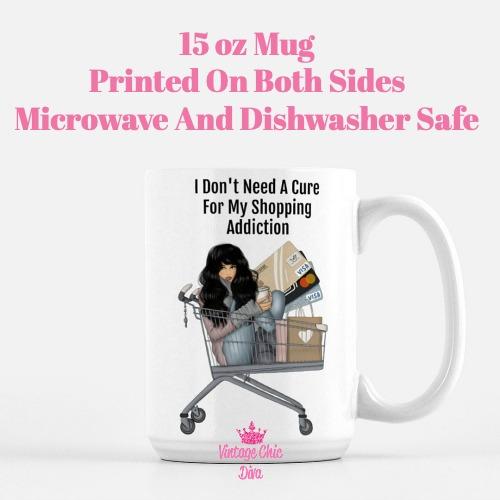 Shopping Addict Girl1 Coffee Mug-