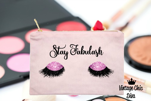 Stay Fabulash Pink Makeup Bag Pink-