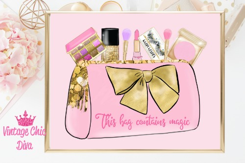 This Bag Contains Magic Pink Background-