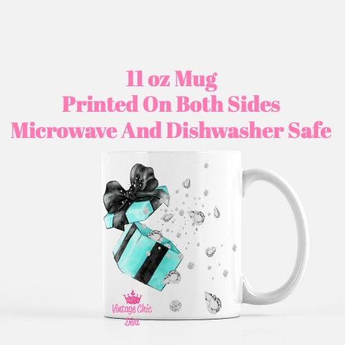 Tiffany Diamond Box Coffee Mug-