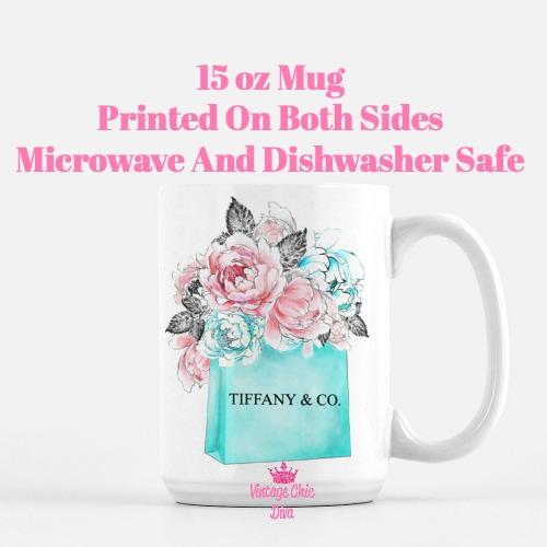 Tiffany Shopping Bag Coffee Mug-