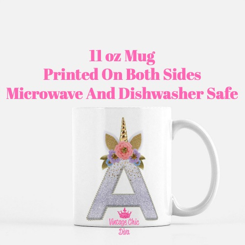 Unicorn Letter A Coffee Mug-