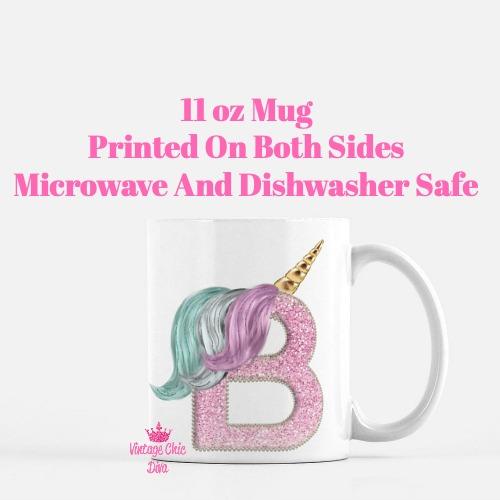 Unicorn Letter B Coffee Mug-