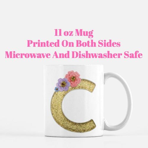 Unicorn Letter C Coffee Mug-