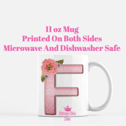 Unicorn Letter F Coffee Mug-