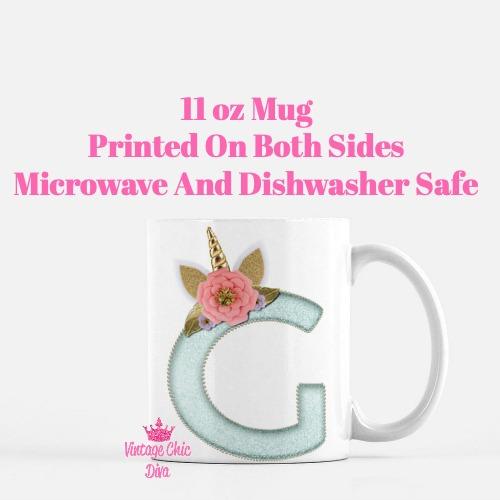Unicorn Letter G Coffee Mug-