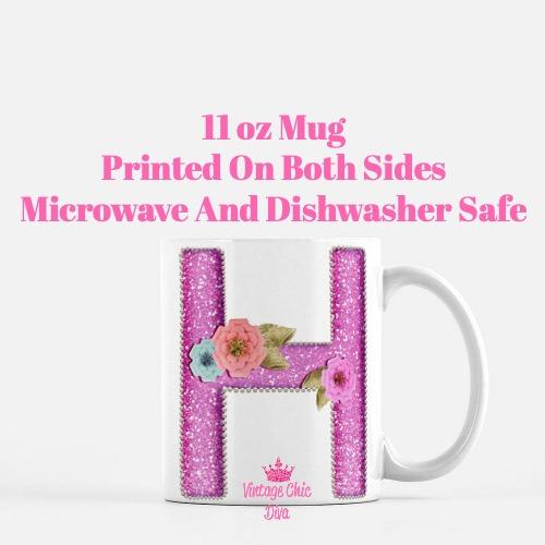 Unicorn Letter H Coffee Mug-