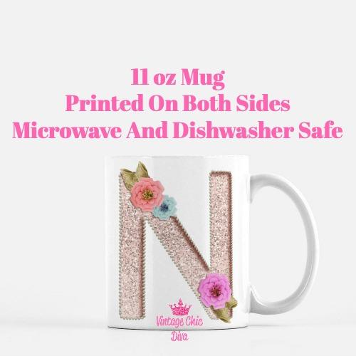 Unicorn Letter N Coffee Mug-