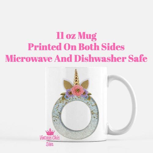 Unicorn Letter O Coffee Mug-