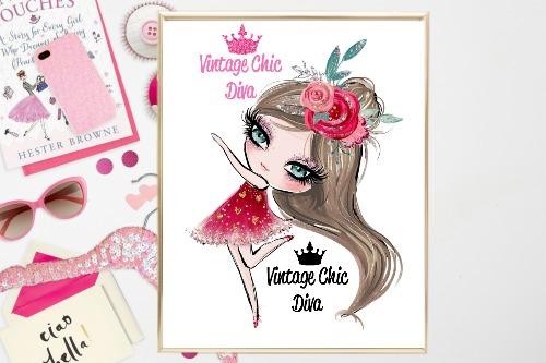 Valentine Girl White Background-