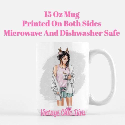 Winter Coffee Girl10 Coffee Mug-