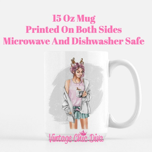 Winter Coffee Girl11 Coffee Mug-