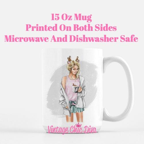 Winter Coffee Girl12 Coffee Mug-