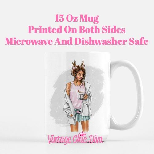 Winter Coffee Girl13 Coffee Mug-