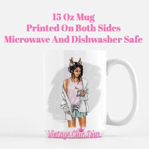 Winter Coffee Girl14 Coffee Mug-