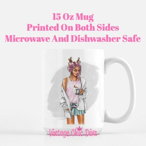 Winter Coffee Girl15 Coffee Mug-