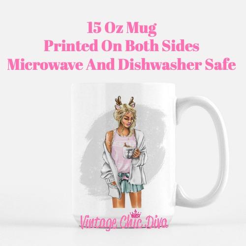 Winter Coffee Girl16 Coffee Mug-