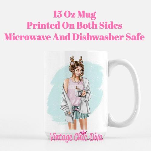 Winter Coffee Girl1 Coffee Mug-