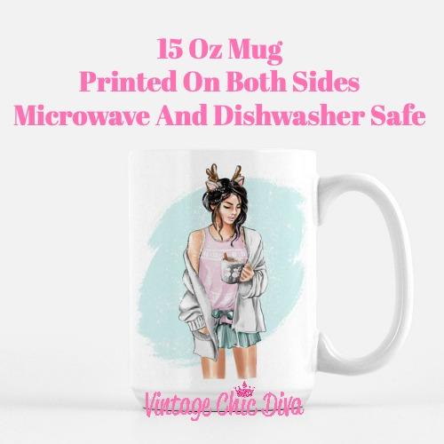 Winter Coffee Girl2 Coffee Mug-