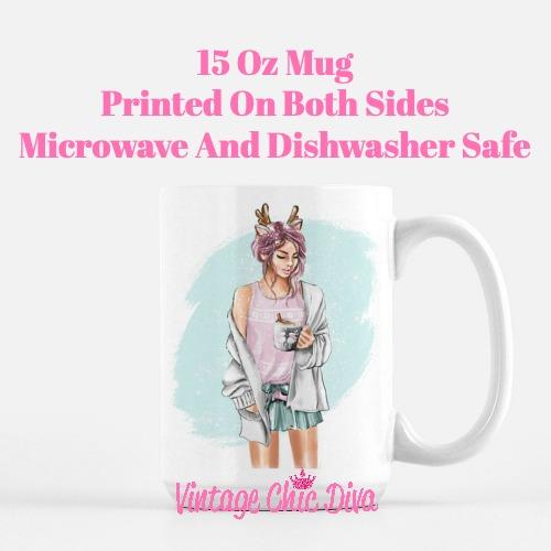 Winter Coffee Girl3 Coffee Mug-