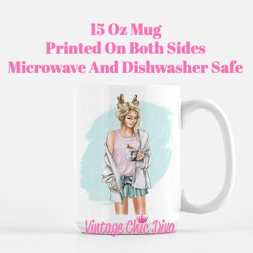 Winter Coffee Girl4 Coffee Mug-