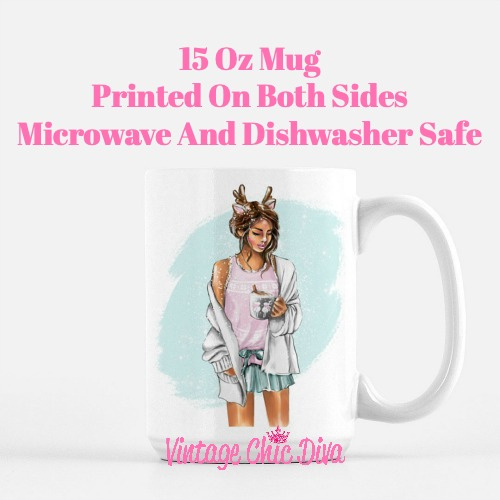 Winter Coffee Girl5 Coffee Mug-
