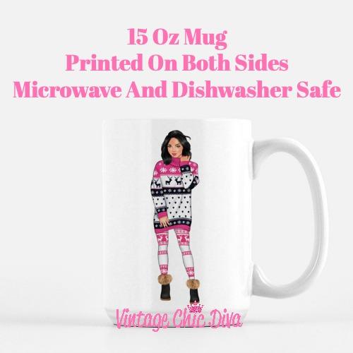 Winter Pajama Girl8 Coffee Mug-