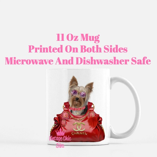 Yorkie Fashion Dog Glasses2 Coffee Mug-